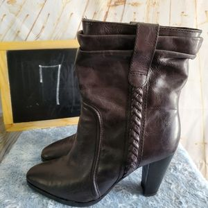 7 For All Mankind Black Heeled Boots